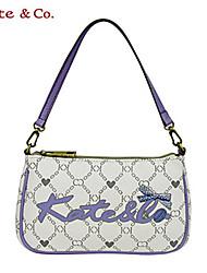 Kate & Co.® Femme PVC Sac de soirée Blanc / Camel - TH-02223