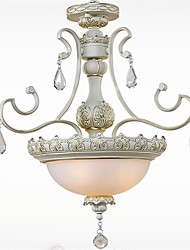 YL Chandeliers/Pendant Lights/Ceiling 3 LED Bulb With K9 Top Crystal Iron Minimalist European Garden Style