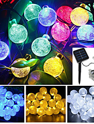 4.8M 20-LED Solar Energy Bubble Ball Waterproof String Light Garden Christmas Party Decoration