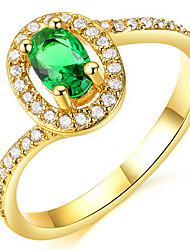 KIMI  18K Gold Vacuum Plating Gold Retro Simple Couple Rings(Mosaic Zircon)