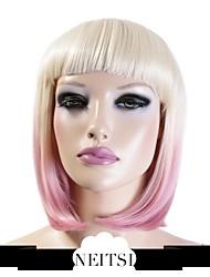 "Neitsi 100% Kanekalon Fiber 14""(35cm) 160g/pc Women's Girl's Cosplay Short Synthetic BOB Ombre Hair Wigs"