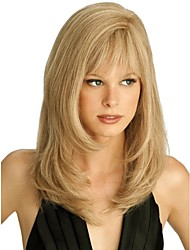 lange hoogwaardig synthetisch golvend blond haar pruik