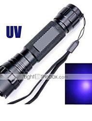 Lanternas LED LED 5 Modo 1200 LumensProva-de-Água / Recarregável / Resistente ao Impacto / Bisel de Golpe / Emergência / Luz Ultravioleta