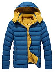 Пальто Простое Активный Панк & Готика Обычная На подкладке Мужчины,Однотонный На выход На каждый день Спорт Полиэстер Полиэстер,Длинный