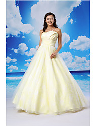 TS Couture® Dress Ball Gown Scalloped Floor-length Organza / Satin with Criss Cross