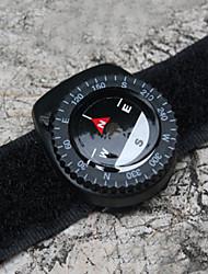 9260024-pulseira banda bússola nylon preto com fecho de velcro bússola