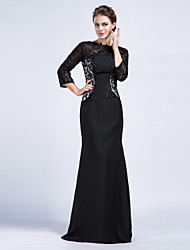 Trumpet/Mermaid Mother of the Bride Dress - Black Floor-length Chiffon