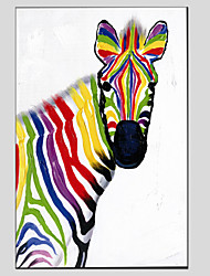 Oil Painting Zebra Style , Canvas Material with Stretched Frame Ready To Hang SIZE:60*90CM.