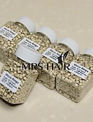 blondes 5 * 3 * 3 mm silicone aluminium tubes micro extensions pour perles boucle bâton i Tip cheveux anneau 1000pcs Blond Noir
