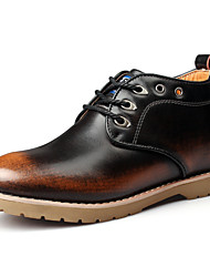 Men's Shoes Casual Leather Boots Brown / Gray