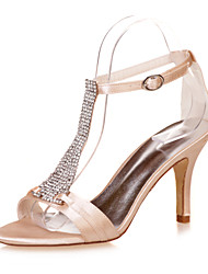 Women's Shoes Satin Stiletto Heel Open Toe Sandals Wedding/Party & Evening  Wedding Shoes More Colors available