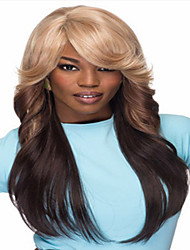 Fashion Mix Color Long Curly Woman's Synthetic Wigs Hair