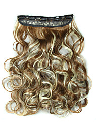 24 Inch 120g Long Curly 5 Clip In Hair Extensions Heat Resistant Synthetic Fiber