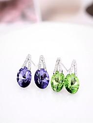 Pendientes plata 925 my orders nail Cute/Party/Work/Casual Sterling Silver Stud Earrings crystal / branded earrings