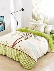 Baolisi Bedding Sets 4pcs Queen Size Girls Korean Love Trees Green Bed