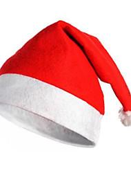 de tres sombrero rojo de Navidad