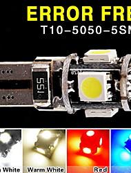 beaucoup t10 194 W5W conduit 5 cms 5050 erreur peut de bus lampe à ampoule à côté parking gratuit de coin