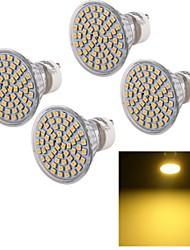 5W GU10 Spot LED A50 60 SMD 3528 450 lm Blanc Chaud Décorative AC 100-240 V 4 pièces