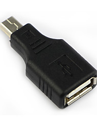 DearRoad Mini USB B 5 Pin Male to USB A Female Charger and Data Adapter Converter