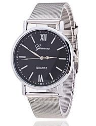 relógio relógio de genebra prata cinto de malha de mulher