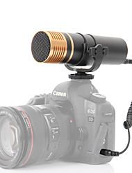 Boya by-vm300ps microfone condensador estéreo para canon nikon sony câmeras filmadoras mini sigma