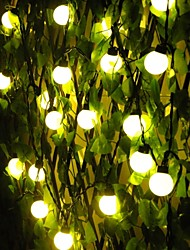 Christmas 4 Cm Ball Lights  Led Solar Outdoor Decoration Lamps Waterproof 5M  20Led