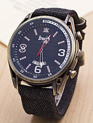 w&de haute qualité de la ceinture de noyau de h montres hommes montre à quartz étanche
