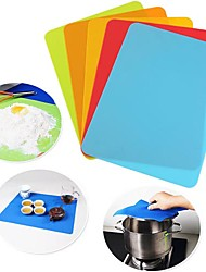 30*40cm Silicone Baking Mat Non-stick Small Silicone Mat for Toaster Oven (Random Color)