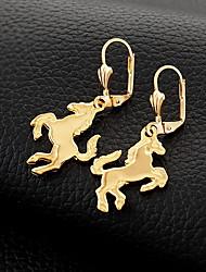 InStyle 18K Chunky Gold Plated Heats Dangle Drop Rhinestone Earrings High Quality