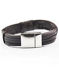 Fashion Men Bracelet Multi-layer Weave Leather Bracelet