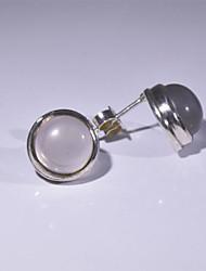 мода 925 серебряных элегантный Росс кварц серьги женщины