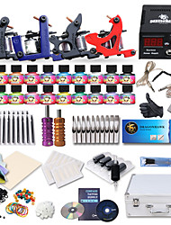 professionele tattoo kit 4 clasical machines geweren voeding met gratis geschenk van 20 tatoeage-inkten