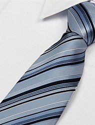 Black White Blue Striped Men Business Occupational Tie Necktie