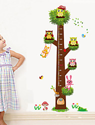 Wall Stickers Wall Decals Style Large Cartoon Oowl Measure Your Height PVC Wall Stickers