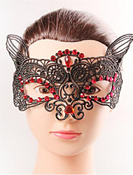 Halloween Fashion Sexy Fox Red Diamond Black Lace   Eye Wear