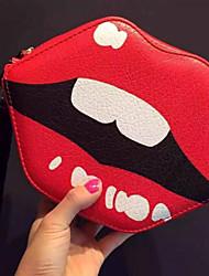 Women PU Casual Shoulder Bag Red