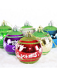 Merry Christmas Ball 6 Colors Mixed -2 Package