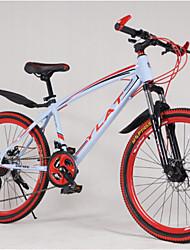 """7 velocidades 24 """"mini dobrável mountain bike drivetrain de alumínio quadro de liga de 3 raios rodas 4 cores"""