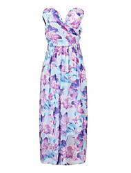 Women's Sleeveless  dress  elegant printing