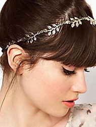 Women Leaves Forehead Chain Headbands