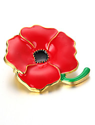Women's Alloy Brooch Red