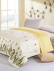 Yellow Flower Cotton Bedding Set Of 4pcs Four Seasons Use