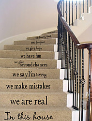 House Rules English  Proverbs Wall Stickers Art Decals