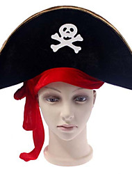 Halloween Masquerade Party Hat Pirate Hat Red Ribbon Pirate Captain Hat Big Hat