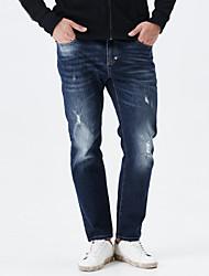 LEEPEN New Autunm Men's Slim Pencil Jeans.