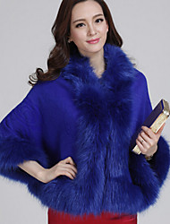 Women Faux Fur Shawl & Wrap , Belt Not Included