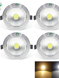 Zweihnder Welding 7W 700LM 6000-6500K/3000-3500K 1*7W COB White/Warm Light Ceiling Light (new products,AC 90-260V,4Pcs)