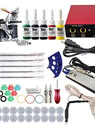 itatoo® komplette Tattoo-Set mit Pistole Maschine Tattoo Netzteil Nadeln Tintenspitze professionelle Tattoo-Set
