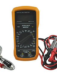 hyelec ms8233c multifunctionele mini digitale multimeter w / temperatuur-test& achtergrondverlichting