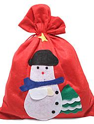 Ornamenti - di Tessuto - Rosso - Natale